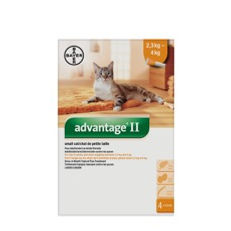 Advantage II pour chats de 2.3 à 4 kg Bayer