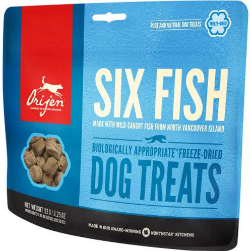 Gâteries Orijen Six Fish pour chiens