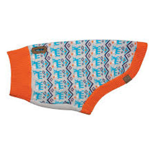 Pull Highland Sweater orange pour chien