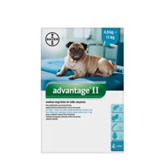 Advantage II pour chiens 4.6 à 11 kg Bayer