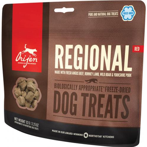 Gâteries Orijen Regional Red pour chiens