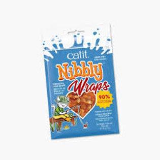Catit Nibbly wraps saveur poulet et poisson pour chat