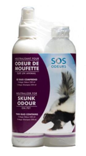 Sos Odeurs produit  pour les odeurs de moufettes | Animal Expert St-Bruno