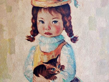 """""""Boobsy Girl"""" by Myrle Medeiros: Big-Eye Artist & Kitsch Artwork"""