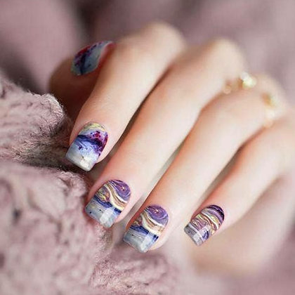 """""""Marble Wood"""" Nail Polish Stickers by Candied Nails"""