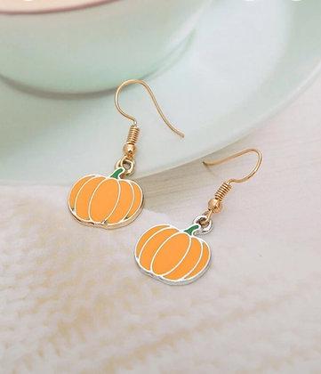 Small Pumpkin Earrings