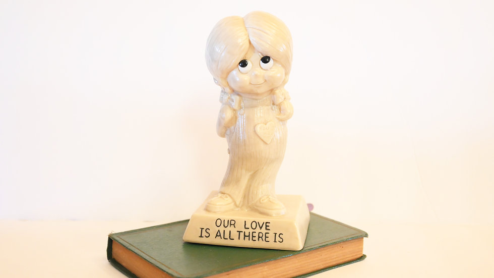 "Vintage 1971 ""Our Love is All There Is"" Figure"