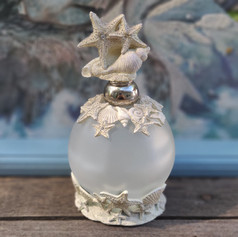Starfish Frosted  Glass Perfume Bottle