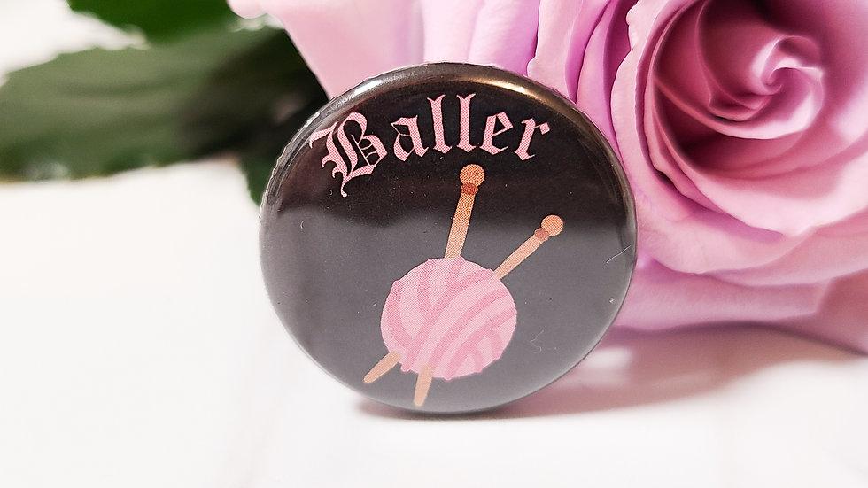 """Baller"" Knitting Small Button"