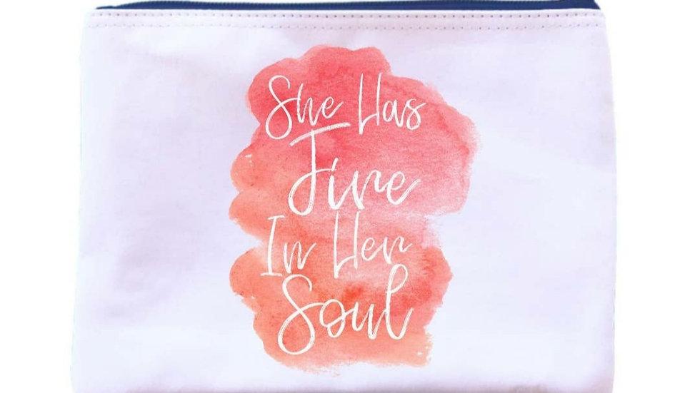 """""""She has fire in her soul"""" Universal Zipper Pouch"""