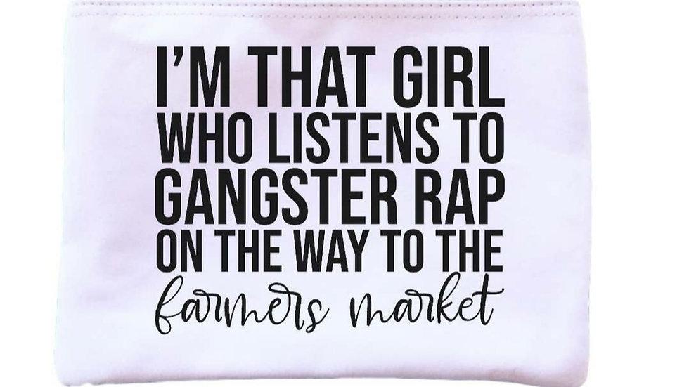 Gangster Rap to the Farmers Market Universal Zipper Pouch