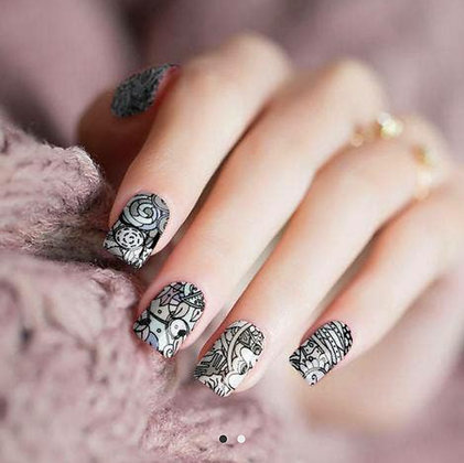"""Grey Muse"" Nail Polish Stickers by Candied Nails"