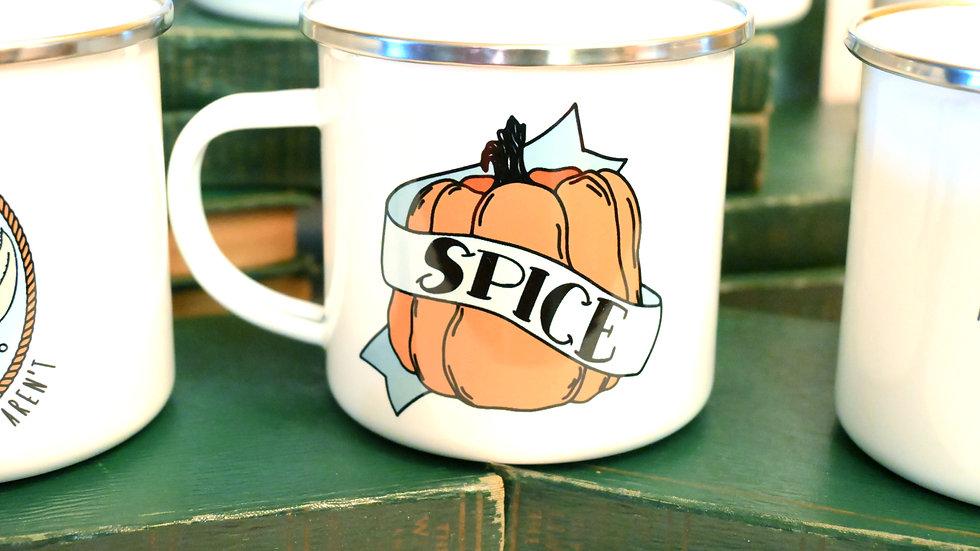 "Pumpkin ""Spice"" Camping Mug 12 oz"