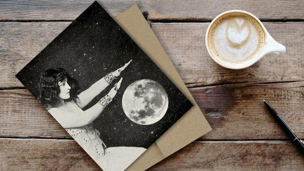 Fortune Teller Moon Card