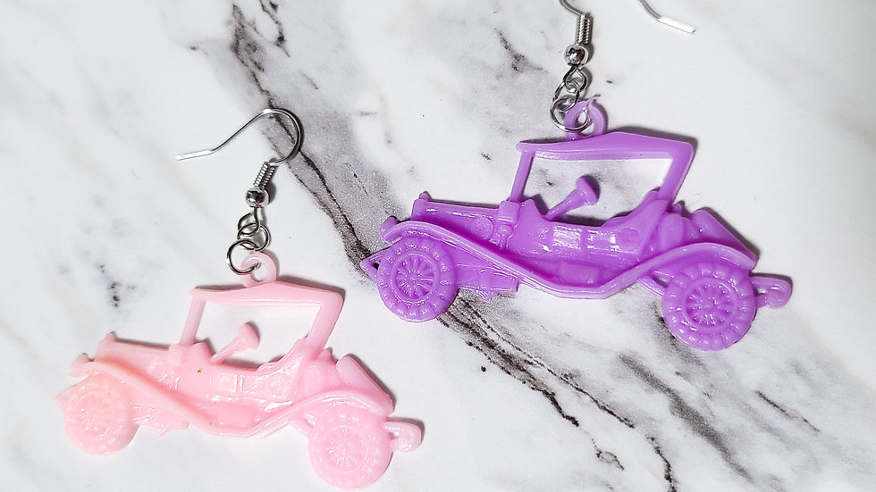 Vintage 1980's Car Charm/ Kitsch Toy Earrings