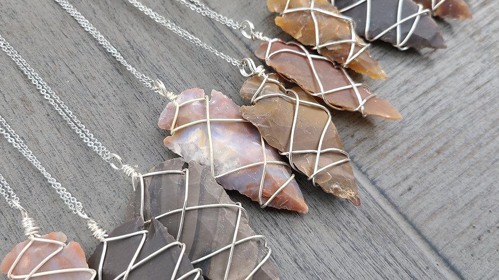 Mystery Pick Fancy Jasper Arrowhead Necklace