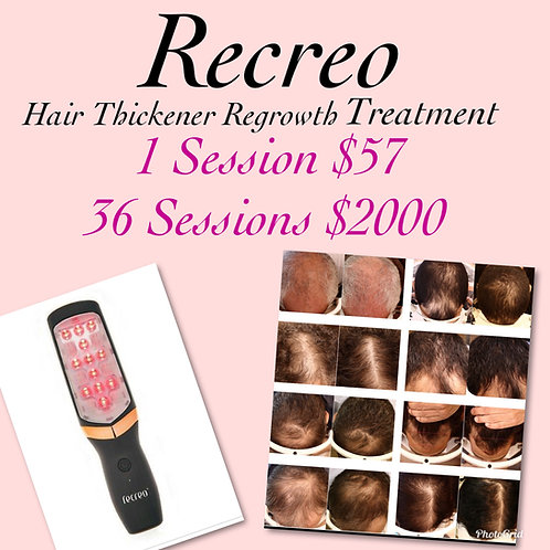 Recreo Hair Thickener Regrowth Treatment 36 Sessions