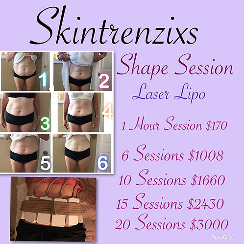 Laser Lipo - 20 Sessions - Service Only