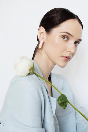 Geometric pink earrings