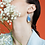 Thumbnail: Blue porcelain earrings