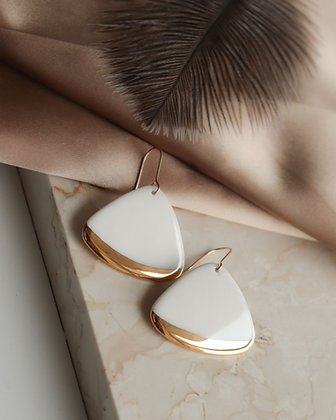 White porcelain earring