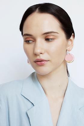 Pink porcelain earrings