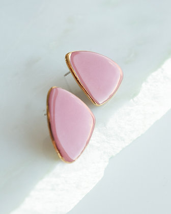Beautiful pink porcelain earrings