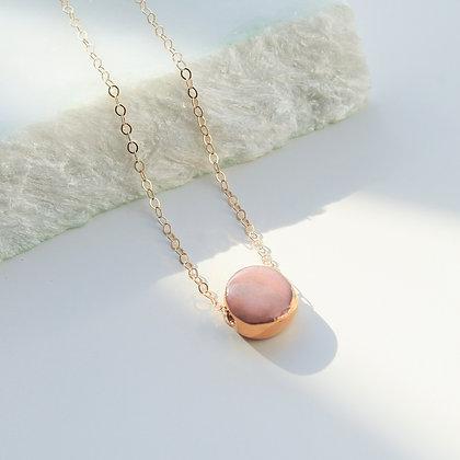 Pink porcelain necklace