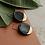 Thumbnail: Black porcelain earrings