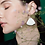 Thumbnail: Silver white porcelain earrings