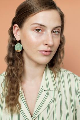 Green porcelain earrings