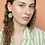 Thumbnail: Green porcelain earrings
