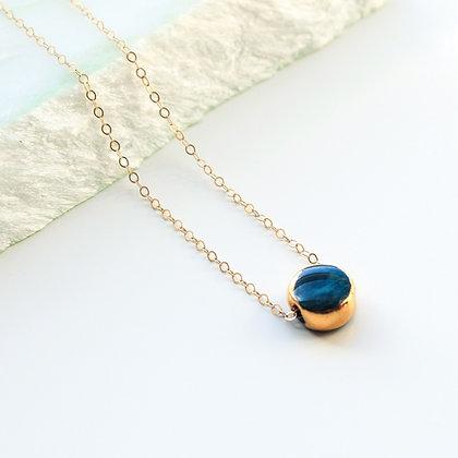 Cyan porcelain necklace