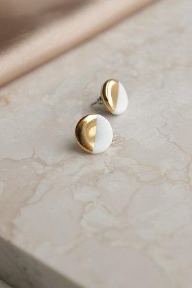 White earrings S
