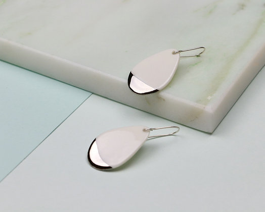 Small drop silver earrings