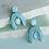 Thumbnail: Artistic stud earrings