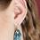 Thumbnail: Gray porcelain earrings