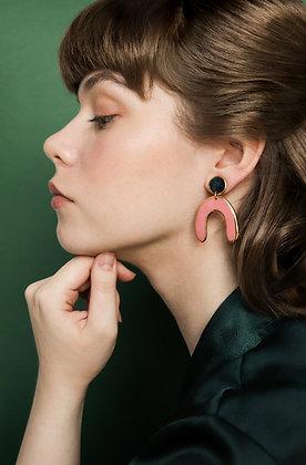 Pink statemant earrings