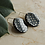 Thumbnail: Black polka dot earrings