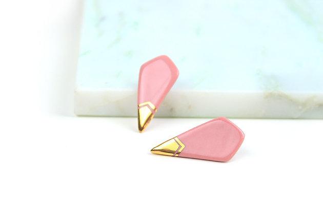Edgy pink earrings