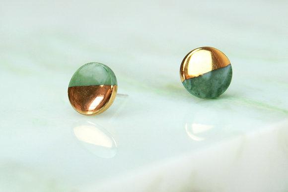 Green earrings XS