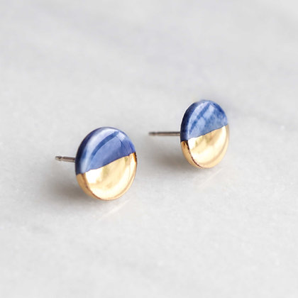 Blue porcelain earrings S