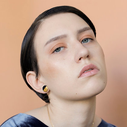 Black earrings S
