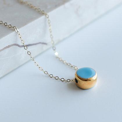 Light blue porcelain necklace