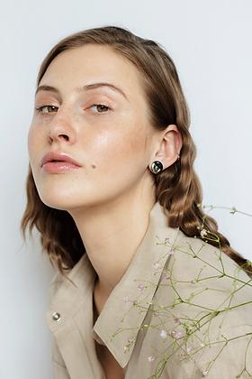 Black platinum earrings S