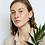 Thumbnail: Round black porcelain earrings