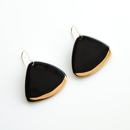 Black porcelain earrings