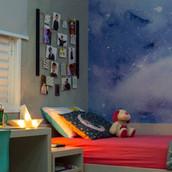 Casa com criança, misturas criativas, decorada com liberdade