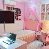 • Todo Rosa •_ O quarto rosa de Sofia