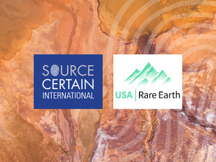 SCI Announces Partnership with USA Rare Earth
